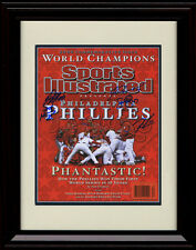 Framed Phillies Sports Illustrated Autograph Print - 2008 World Series Champs!
