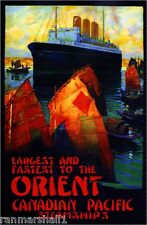 1920s Orient Canadian Pacific Ocean Liner Travel Advertisement Poster Print