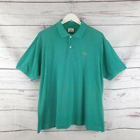 Lacoste Mens Green Short Sleeve Polo Shirt Size 6 UK Size Extra Large XL