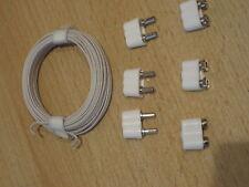Kabel Stecker Kupplung Verlängerung f. Puppenstuben Krippen Beleuchtung *NEU*