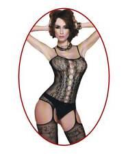 Bodystocking sexy donna catsuit Tuta nera aperta lingerie intimo trasgressivo