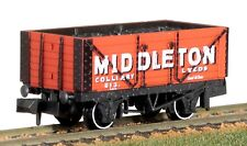 PECO Nr-p423 7 Plank Mineral Wagon Middleton Colliery Leeds 613 Red N Gauge T48p