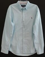 Polo Ralph Lauren Mens Aqua Blue Oxford Slim Fit Button-Front Shirt NWT 2XL XXL