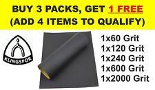 WET AND DRY SANDPAPER KLINGSPOR 60 120 240 600 2000 Grit (Pack of 5 sheets)