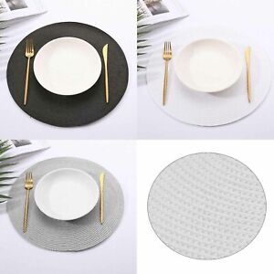 4 Pack of Round Weaved Non Slip Placemats Dining Dinner Table Place Mat Set
