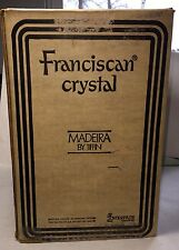8 NEW FRANCISCAN CRYSTAL MADEIRA PLUM GOBLETS IN UNOPENED BOX
