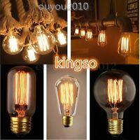 E27 60W LED Lampadina Filamento Retró Edison Filament Natale Luce 110/220V HOT