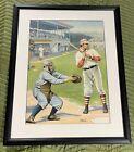 Rare Antique  Batter Up! Strobridge Litho Co Baseball Print 1905 Artist Unknown