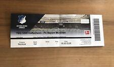 Sammler Ticket TSG 1899 Hoffenheim - FC Bayern München 09.09.17 FCB