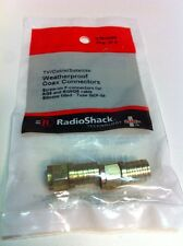 Tv/Cable/Satellite Weatherproof Coax Connectors #278-0236 By RadioShack