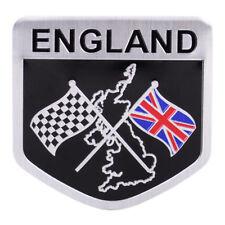 50x50mm UK Union Jack England Flag Shield Emblem Metal Badge Car Auto Sticker