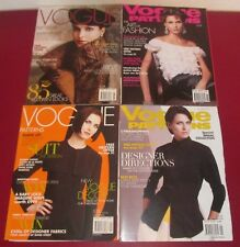 Job Lot 4 VOGUE PATTERNS MAGAZINES 2003 Fashion Lifestyle Chic