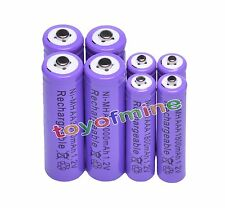 4 AA 3000mAh + 4 AAA 1800mAh Ni-Mh Rechargeable Battery Cell for MP3 RC Toy