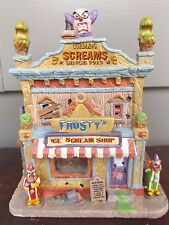 Spooky Town Lemax Halloween~Frosty's Ice Scream Shop~Lighted Building RETIRED