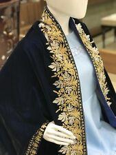 Blue Velvet Cape, Wedding Shawl, Kashmir Embroidered Shawls, Brides Capes, Wrap