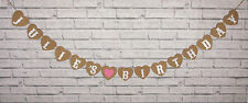 PERSONALISED HAPPY BIRTHDAY ANY NAME PARTY BUNTING GARLAND VINTAGE CARD BANNER