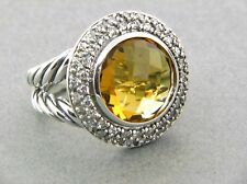 DAVID YURMAN CERISE RING WITH CITRINE AND DIAMONDS SIZE 5.5