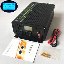 Pure Sine Wave Power Inverter 1000W 12/24/48V to 120/220/230/240V 50/60HZ LCDCar