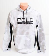 Polo Sport Ralph Lauren White & Gray Hooded Sweatshirt Hoodie Men's Small S NEW