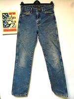 Wrangler jeans Straight leg Distressed Faded Hippie Boho punk Denim 29x34