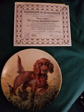 Collector Plate Edwin M. Knowles. Missing the Point-The Irish Setter New in Box