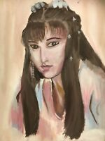 Chinese Beauty Acrylic On Canvas Original Painting 18 By 24""
