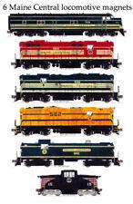 Maine Central Locomotives set of 6 magnets Andy Fletcher