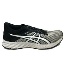 Asics Fuzex Lyte 2 T769N Running Shoes Womens Size 8 Black White Gray Sneakers