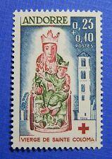 1964 ANDORRA FRENCH 25c + 10c SCOTT# B1 MICHEL # 190 UNUSED NH           CS28298
