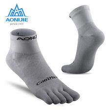 Marathon Athletic Quarter Toe Socks For Five Toed Barefoot Running Shoes Fitness