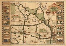 1930 Map Country Club District Kansas City, Missouri Wall Art Poster Print Decor