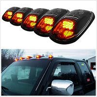 Universal Pickup Vans Truck 4x4 Yellow/Amber Lens Top LED Cab Roof Lights 5 pcs