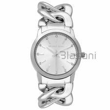 Michael Kors Original MK3607 Womens Elena Chain Silver Stainless Steel 35mm