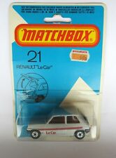 Matchbox Superfast 21c Renault 5tl - Silver 'Le Car' - Charcoal Base - Mint/Card