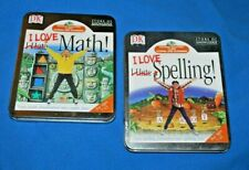 """Set of 2 Dk """"I Love Spelling Math & I Love Math"""" Cd / For Ages 7-11- Free Ship"""