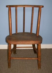 VINTAGE CHILD'S WOODEN CHAIR ~ 56 CM TALL, SEAT HEIGHT IS 29 CM