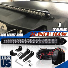 "20""100W Led Light Bar Flood Spot Work Driving Offroad Truck For JEEP FORD SUv"