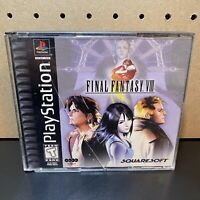 Final Fantasy VIII (Sony PlayStation 1 PS1) 4 Discs- BLACK LABEL - TESTED*