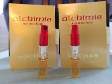 ALCHIMIE ROCHAS EDP 2 X 2ml DE Raro, Muestras De Perfume Spray Nuevo Discontinuado