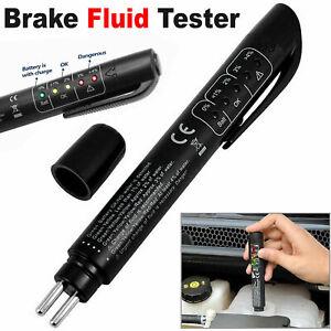 Auto Car Brake Water Moisture Fluid Tester For DOT3 DOT4 LED Indicator Pen Tool
