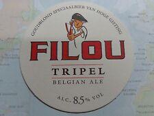 Beer Coaster ~ Brouwerij Van Honsebrouck Filou Tripel ~<>~ Ingelmunster, Belgium