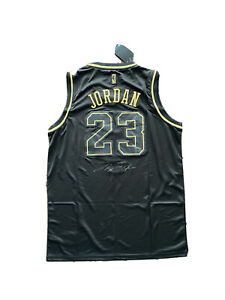 Michael Jordan Signed Limited Gold On Black Chicago Bulls Jersey 🔥🔥🔥🔥