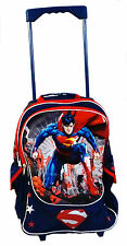 Justice League Supoerman Large School Rolling Backpack Luggage Trolley