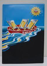 Vintage Tin Advertising Sign Amstel Beer Pilsener-1980s Dutch