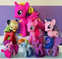 "My Little Pony Lot Of Ponies MLP Ponies G4 Brushable Figures 10"" 6"" 4"""