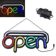 Rgb Bright Open Led Neon Light Sign,Neon Tube Style Open Sign w/ Hanging Chain