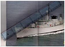 Force navale belge, belgishe zeemacht, poster frégate F912 Wandelaar