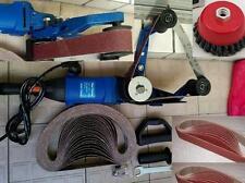 110V Pipe Polisher pipe tube sander 25 Belt 2 cup brush also grinder fit metabo