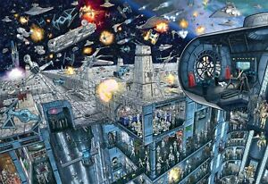 Star Wars - Search Inside: Death Star - 2000 Piece Jigsaw Puzzle with Hidden Ima