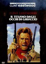 IL TEXANO DAGLI OCCHI DI GHIACCIO Clint Eastwood DVD Ottime Condizioni Edit. (W)